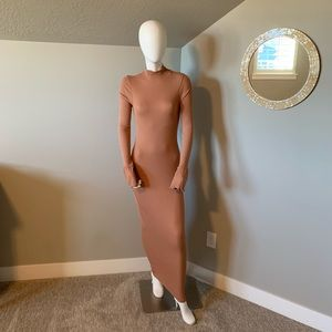 ASOS ribbed body con bell sleeve maxi dress size 4